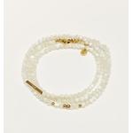 bracelet multirangs chance amour - acier inoxydable - ikita paris - blanc nacre-min (1)