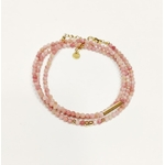 bracelet multirangs chance amour - acier inoxydable - ikita paris - rose-min (1)