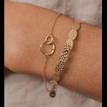 bracelet anneaux entrelacés acier or ikita paris