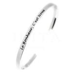 Bracelet Jonc message - le bonheur c'est nous - acier inoxydable - Ikita Paris