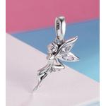 Charm Pendentif FÉE DANSEUSE - Argent S925 - Zircon Cubique - Style Pandora - bijou elfe nymphe fée