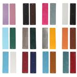 lots de 12 cuirs et vinyles réversibles pour personnaliser manchette style georgette 40 mm de hauteur