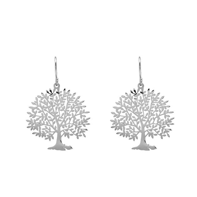 Boucles oreilles ARBRE DE VIE - Acier Inoxydable Argent_profil-min