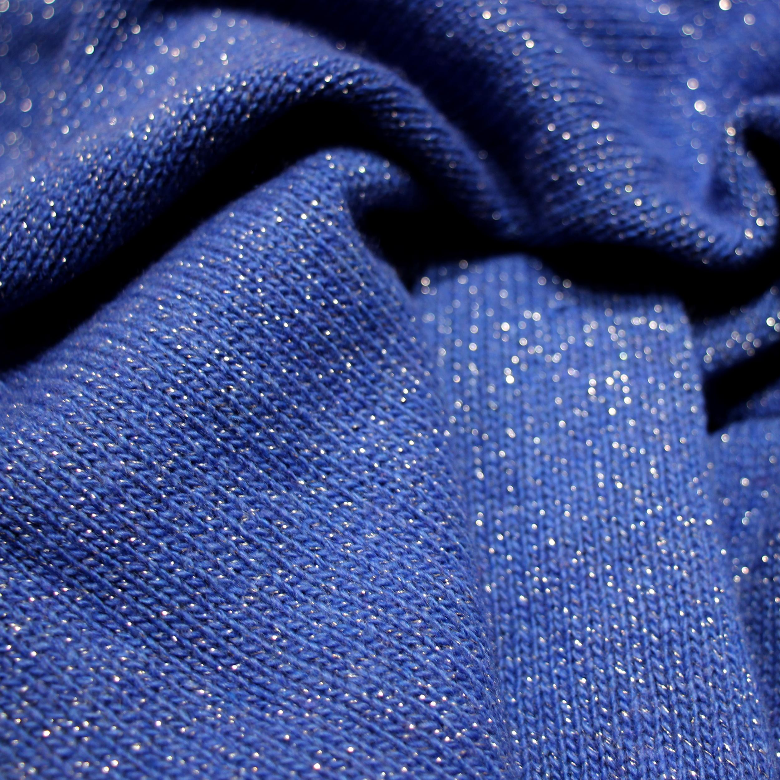 Poncho Femme - Bleu Pailleté