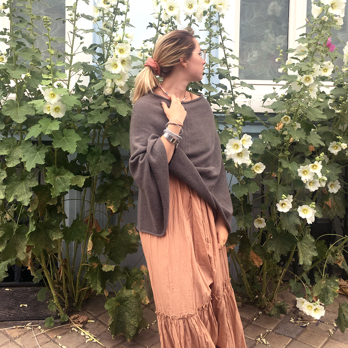 Poncho Femme - Taupe