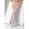 Collants ouverts S012 - Blanc de profil jambes croisées