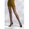 Collants résille TI041 - noir de trois quart jambes ouvertes