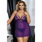 Nuisette sexy violette décolletée - grande taille