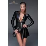 Mini robe corset wetlook F154