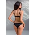 Body lingerie noir Mirella de dos trois quart