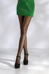 Collants résille TI045 - noir de face jambes croisées