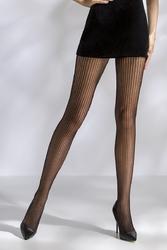 Collants résille TI044 - noir de face jambes ouvertes