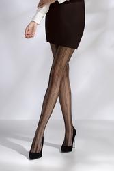 Collants résille TI040 - noir de trois quart jambes croisées