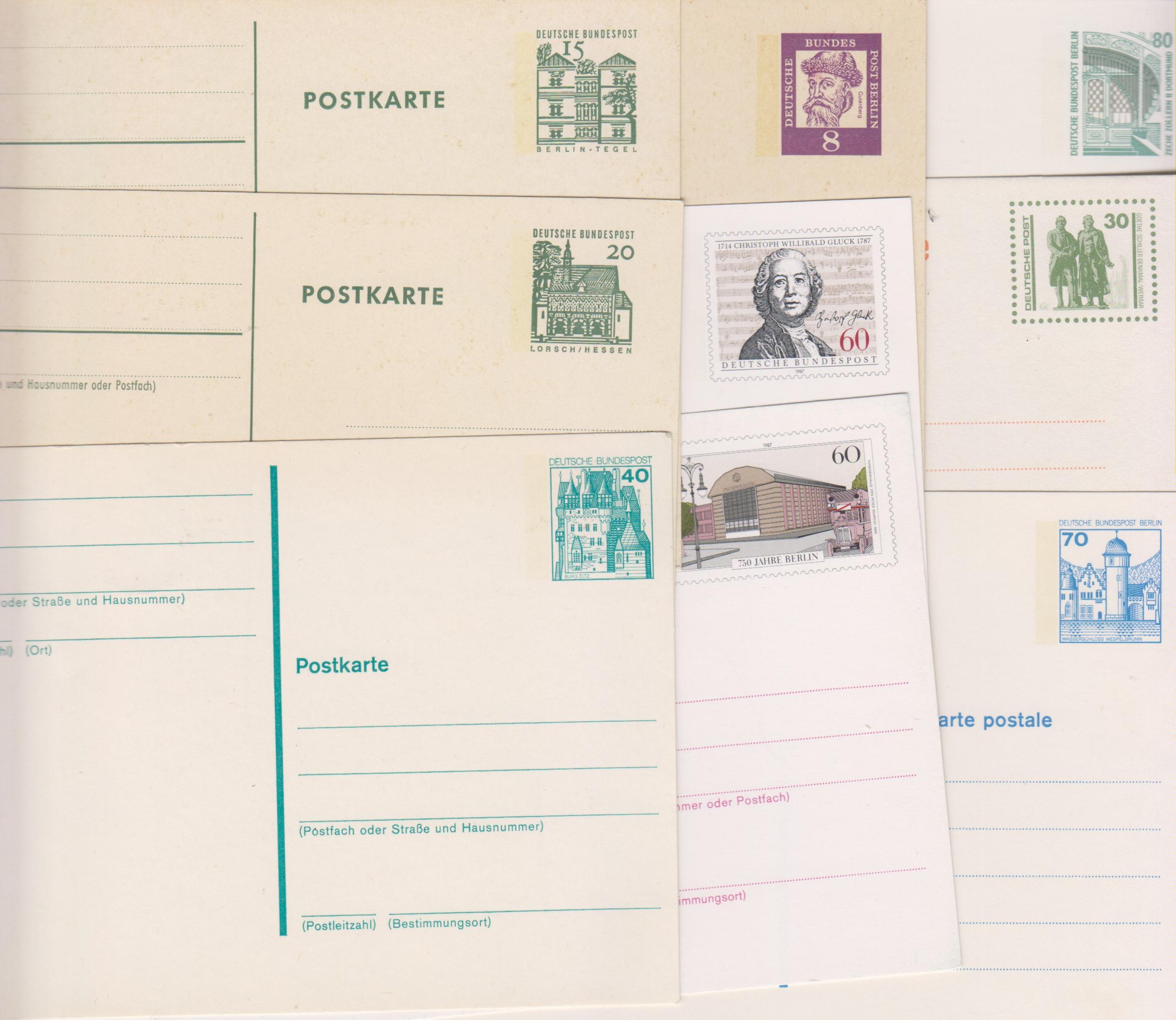 Allemagne - Lot d\'entiers-postaux toutes époques