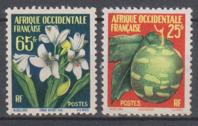 AOF - Fleurs - yt.69-72 neufs * - Cote €3.60
