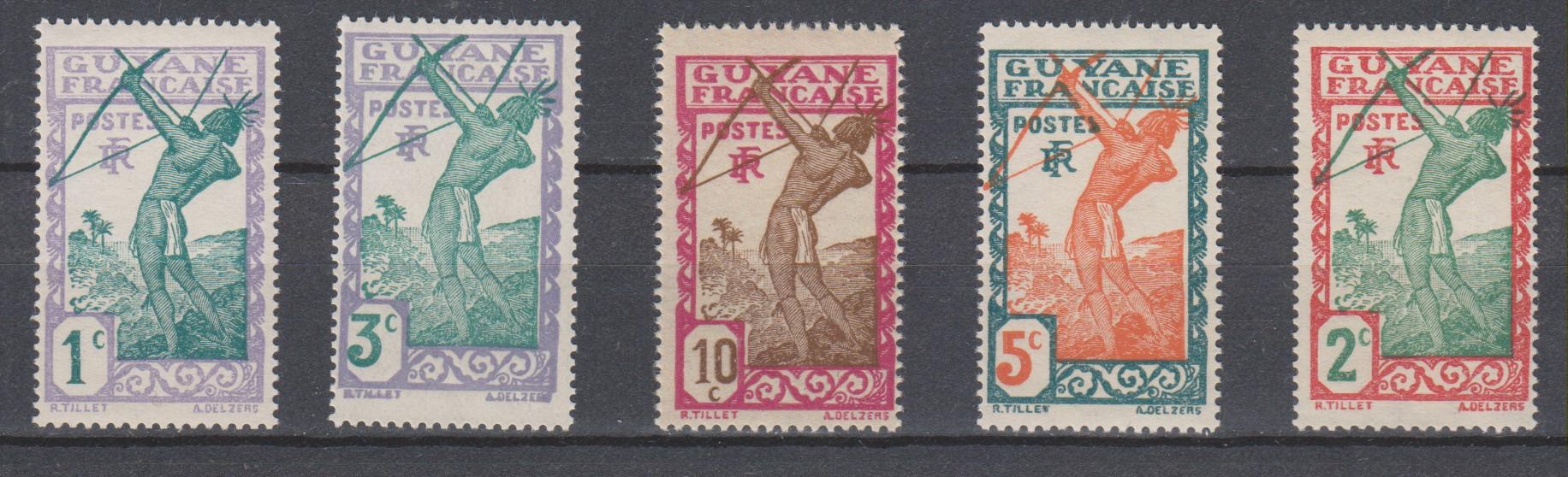 Guyane - Sélection de timbres neufs ** - Cote €1.50