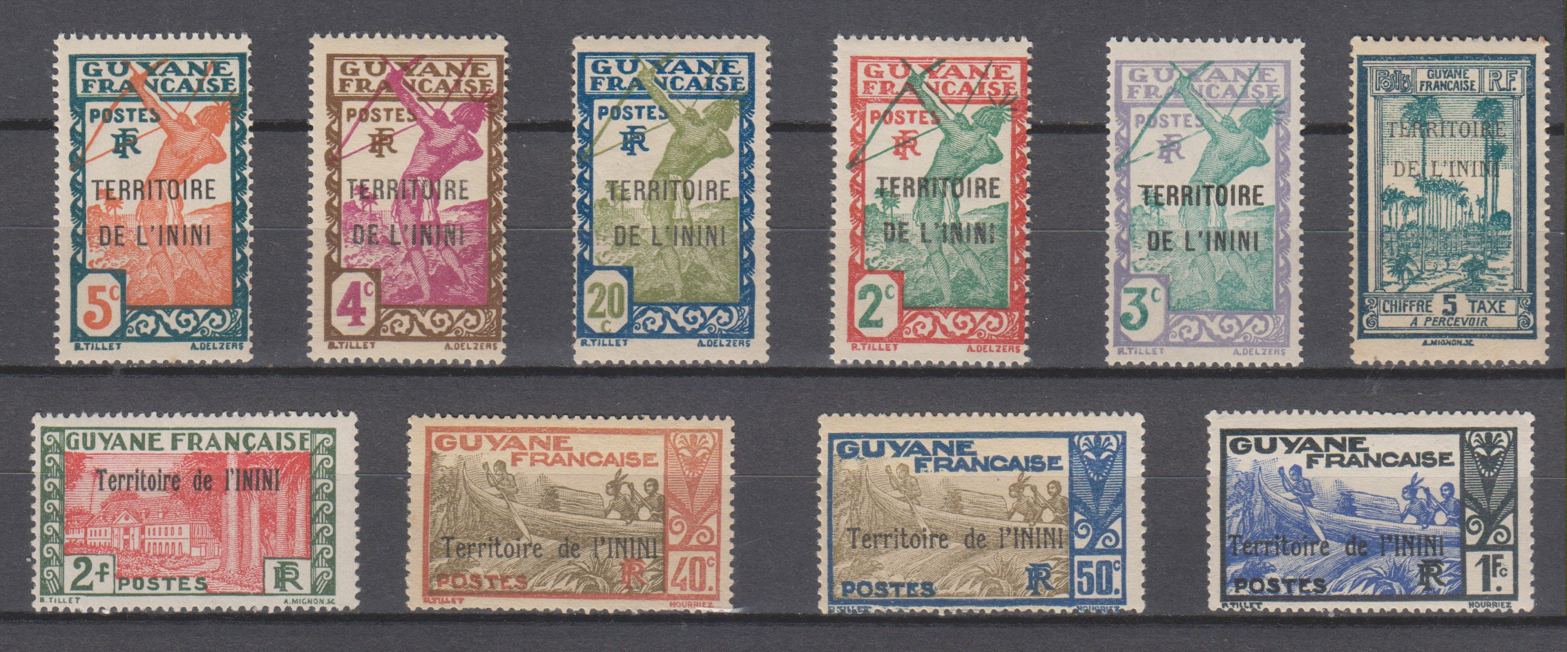 Inini - Sélection de timbres neufs **/* - Cote €9.40