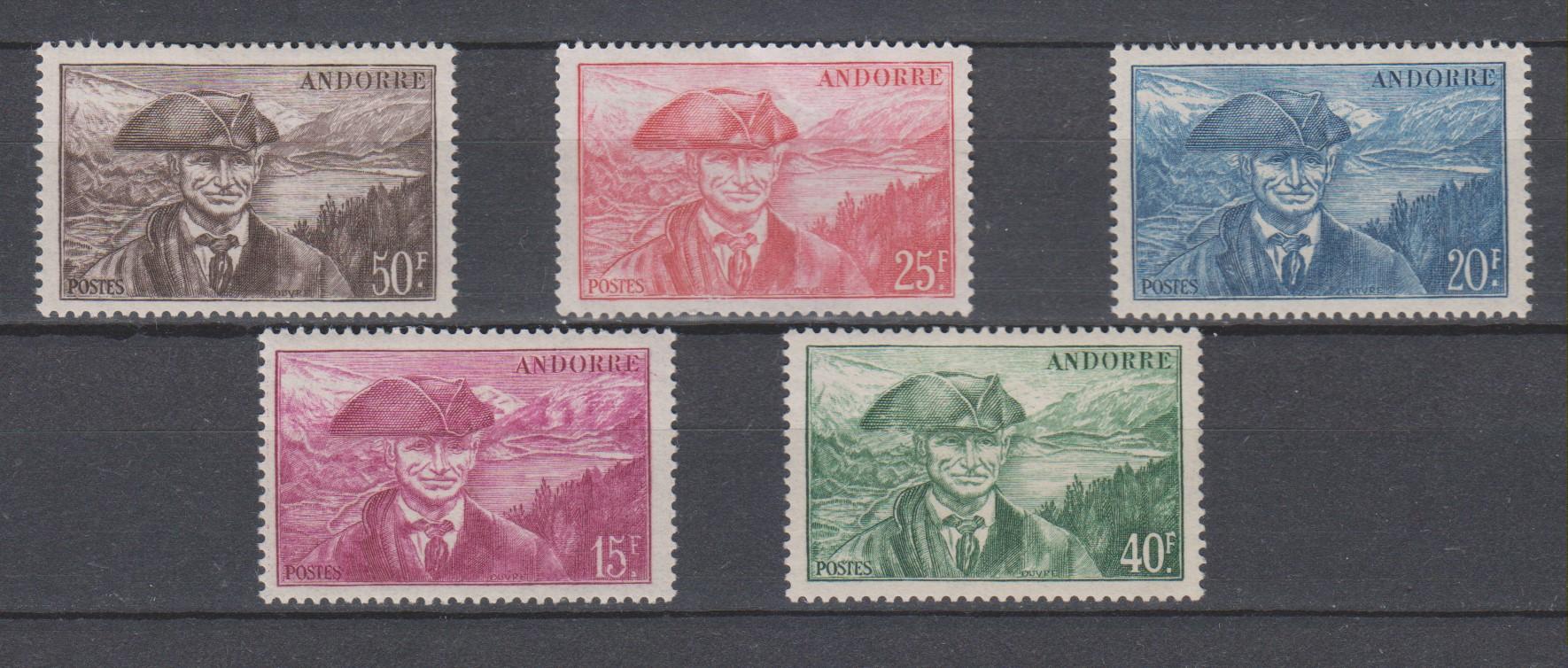 Andorre - Série courante de 1944 neufs * - Cote €8.30
