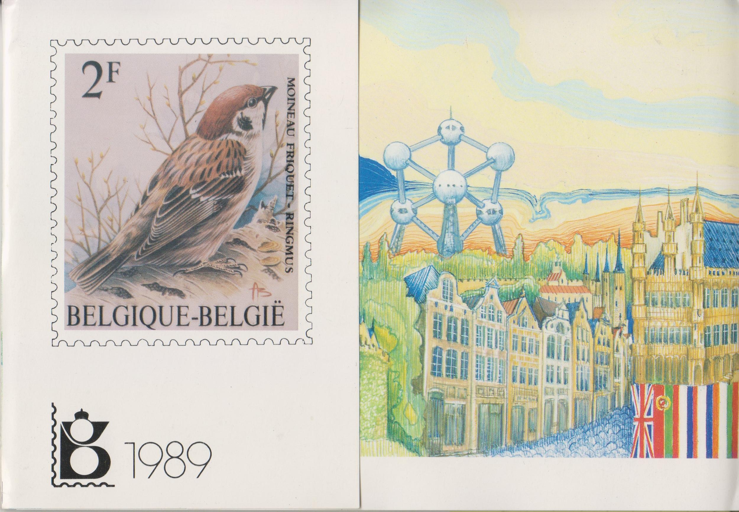 Belgique - Année complète neuve ** en livret de la poste - 1989 - Cote €62.50