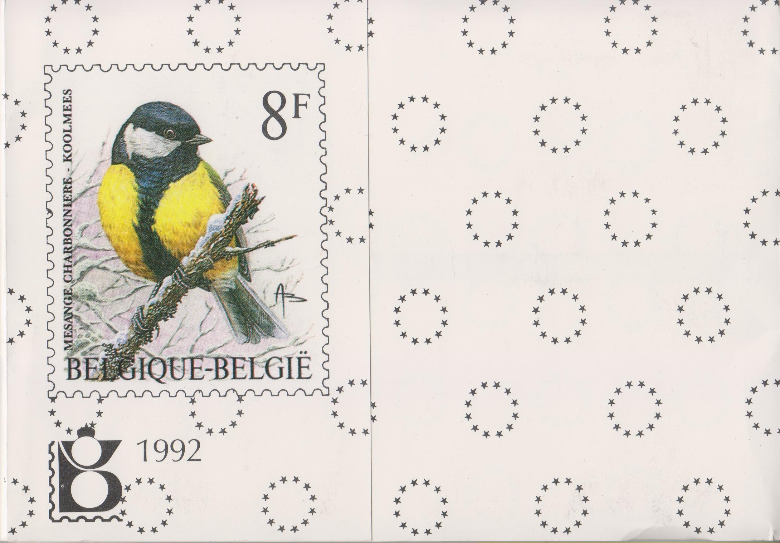 Belgique - Année complète neuve ** en livret de la poste - 1992 - Cote €75.40