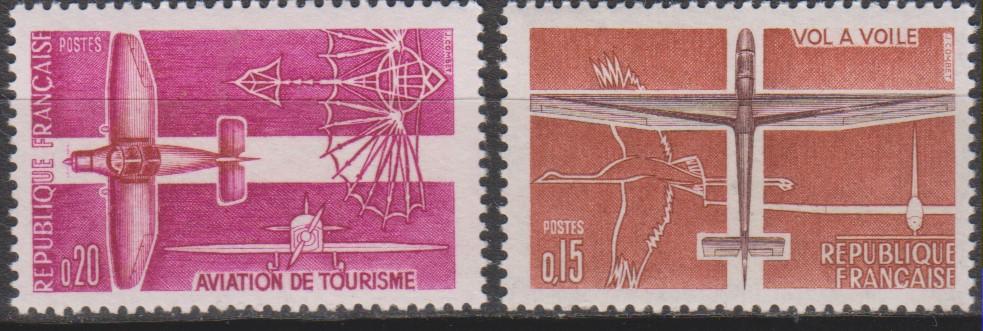 France - Aviation - yt.1340/41 neufs ** de 1962 - Cote €1.30