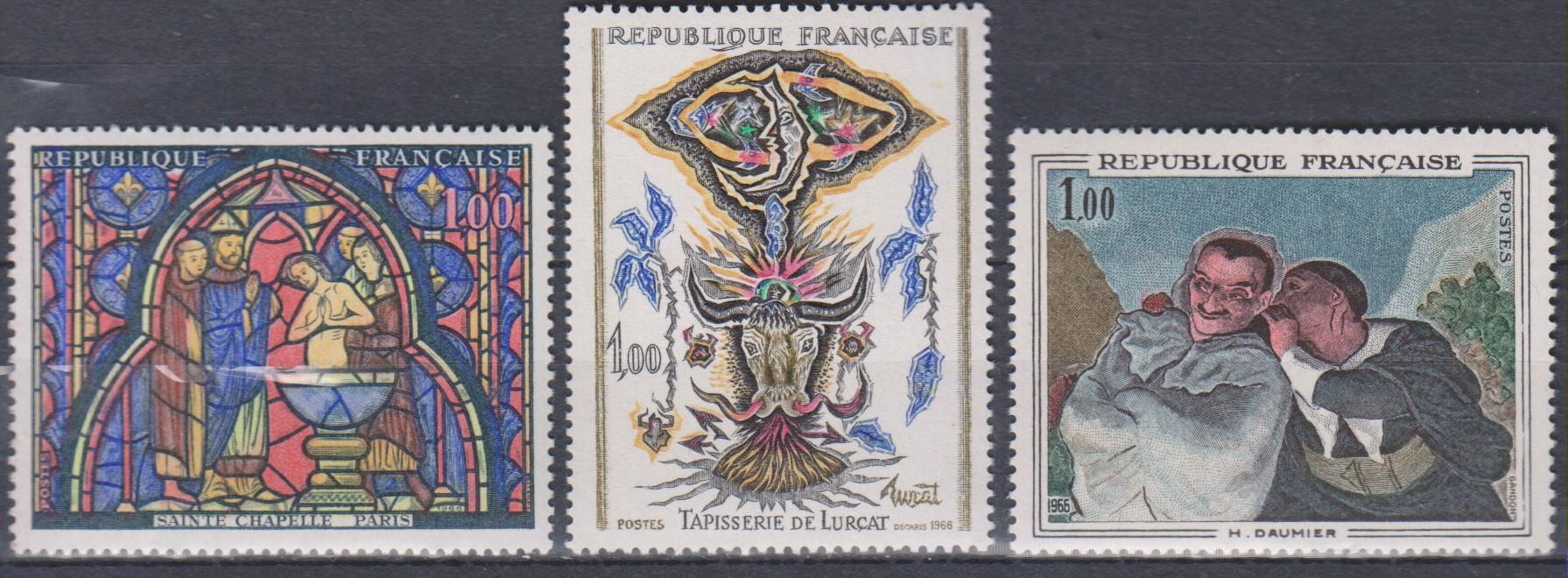 France - Art - yt1492/94 neufs ** de 1966 - Cote €1.50