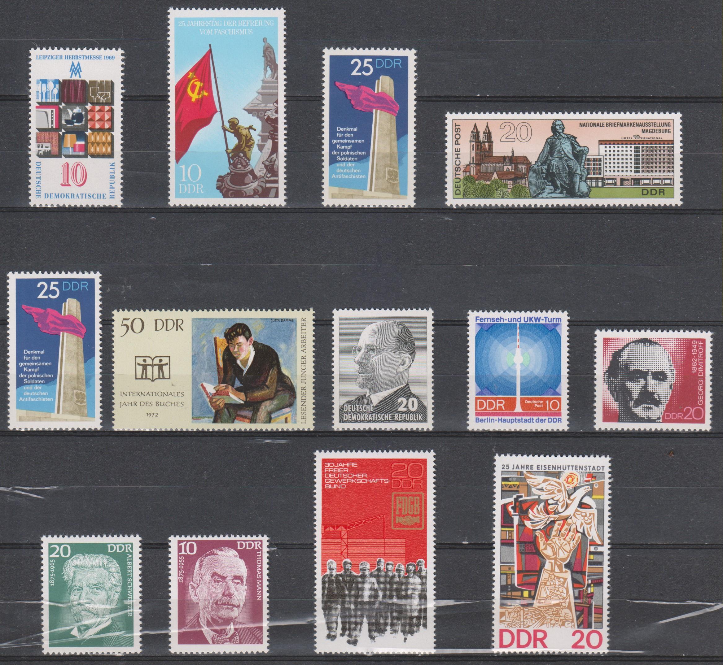 Allemagne orientale - Sélection de valeurs neuves **