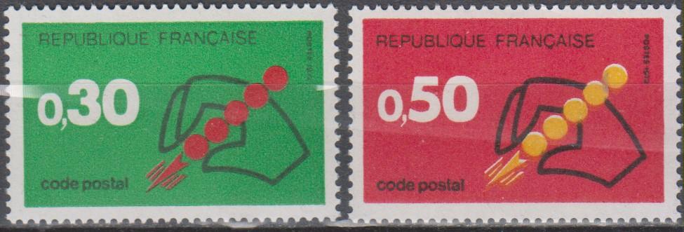 France - Code postal - yt.1719/20 neufs ** de 1972 - Cote €0.65