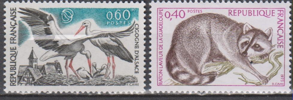 France - Animaux - yt.1754/55 neufs ** de 1973 - Cote €1.15