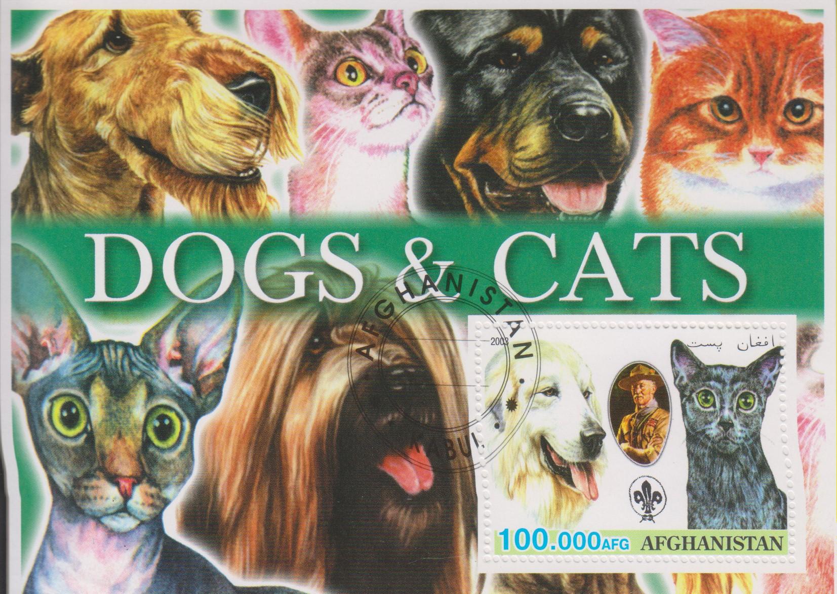 Afghanistan - Chiens et chats de 2003 - Oblitéré