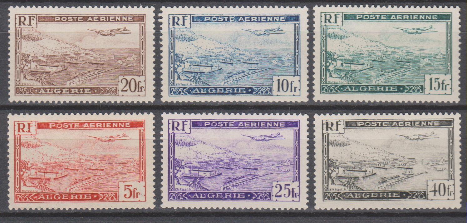 Algérie - Poste aérienne - yt.A1/6 neufs * - Cote €5.30