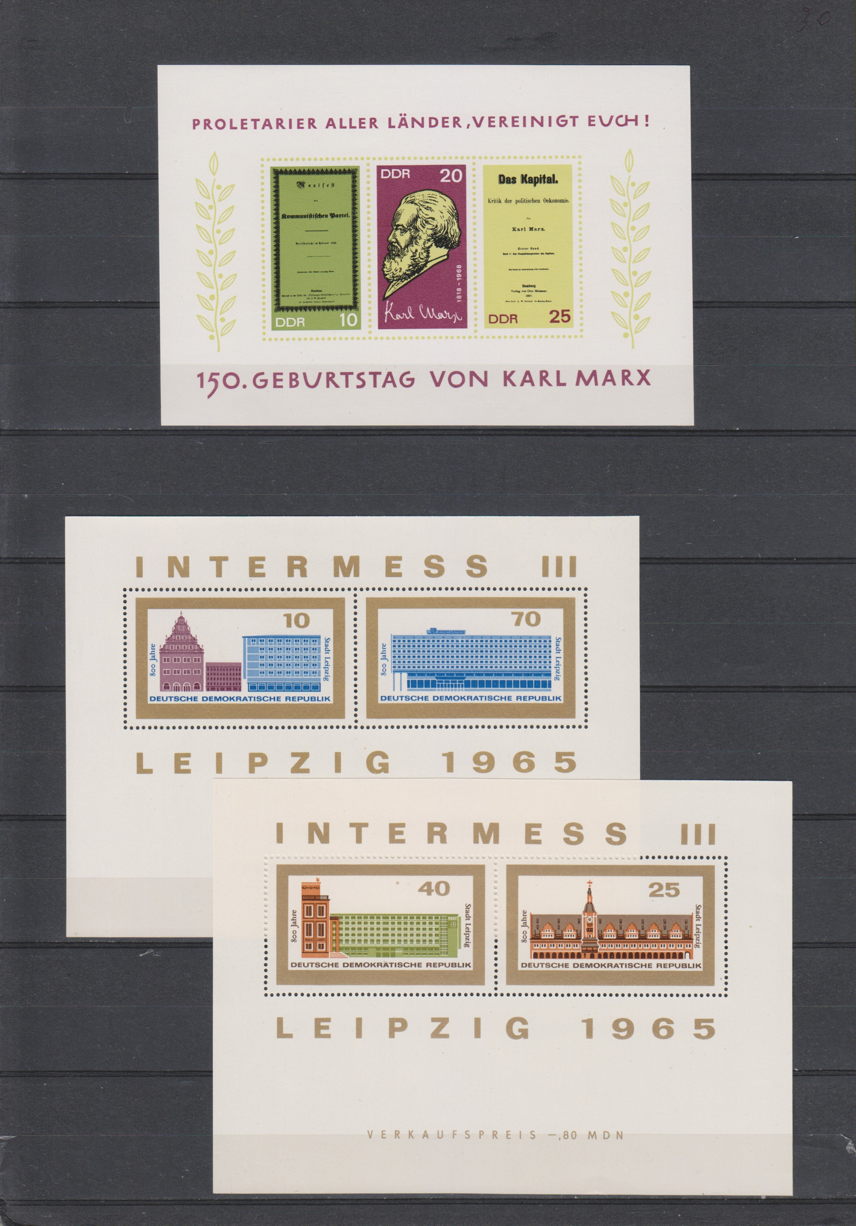 Allemagne - Collection de feuillets anciens neufs ** (3 photos) - Cote €76