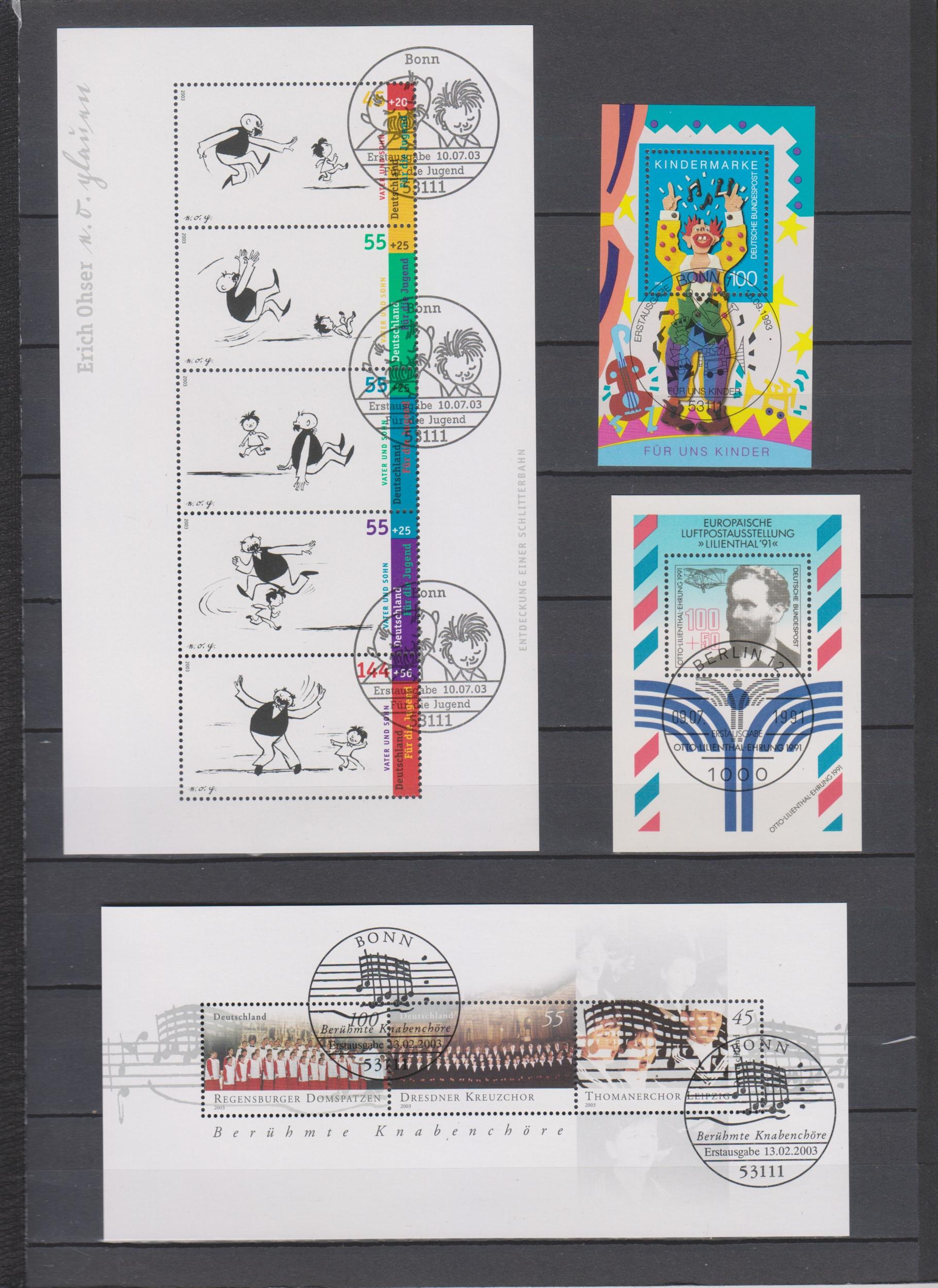 Allemagne - Énorme collection de blocs feuillets oblitérés (13 photos) - Cote €240