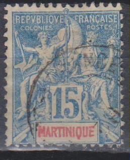 Martinique - Série de 1892 - yt.36 oblitéré - Cote €9