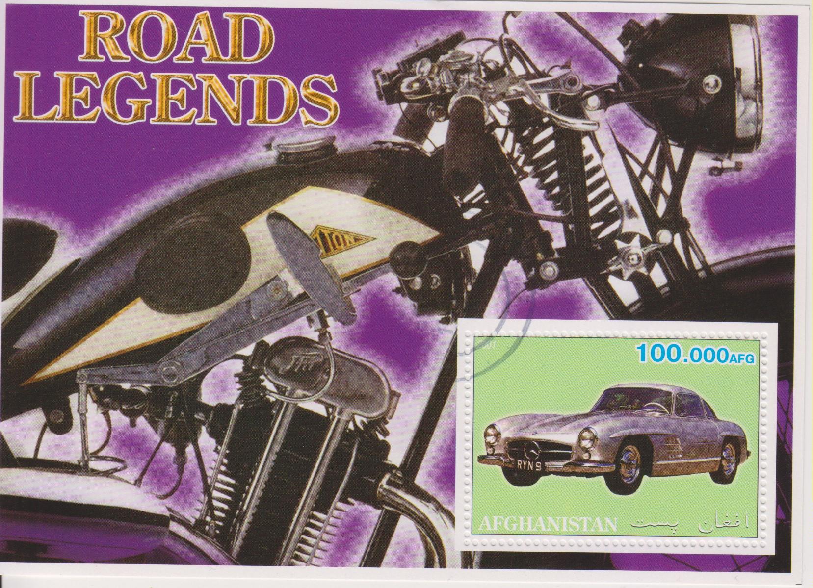 Afghanistan - Motos / Automobiles - Feuillet de 2002