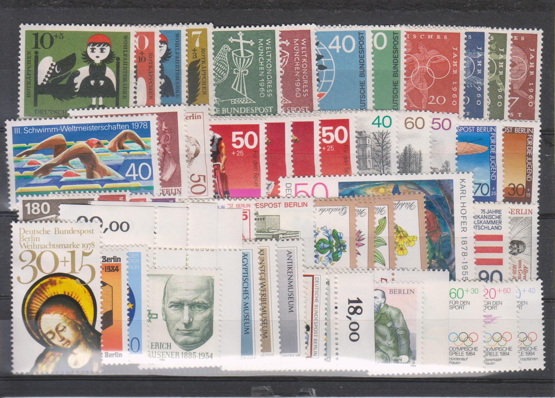 Allemagne / Berlin - Collection de bonnes valeurs neuves ** (2 photos) - Cote €102