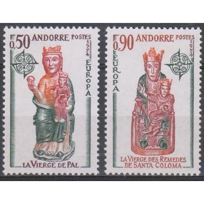 Andorre Français - Europa - yt.237/38 neufs ** - Cote €55