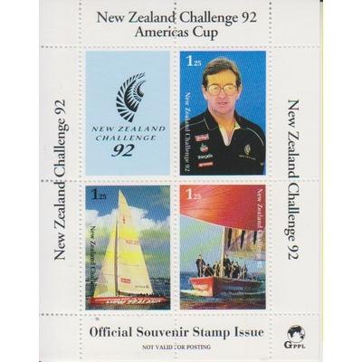 Nouvelle Zélande - America's Cup - Feuillet souvenir officiel neuf ** de 1992