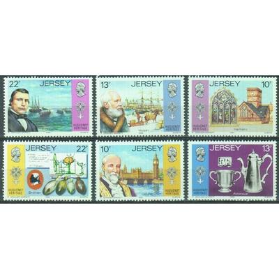 Jersey - Héritage - yt.354/59 neufs ** - Cote €6