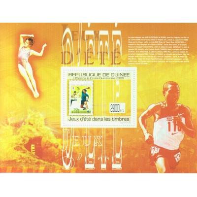 Guinée - Jeux olympiques sur les timbres - Feuillet neuf ** de 2009