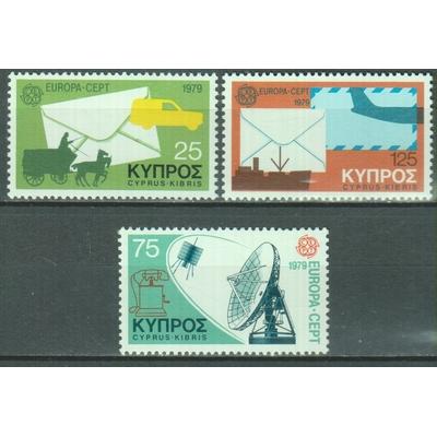 Chypre - Europa - yt.496/98 neufs ** - Cote €5.50