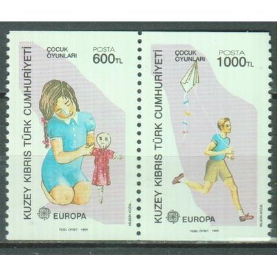 Chypre Turc - Europa - yt.228/29 neufs ** ex-carnet - Cote €6