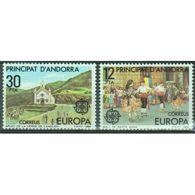 Andorre - Europa - yt.131/32 neufs ** - Cote €1