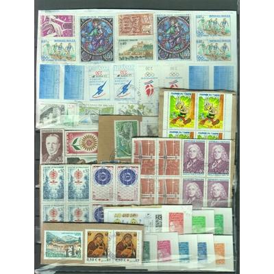 France - Ensemble de timbres sur fragments