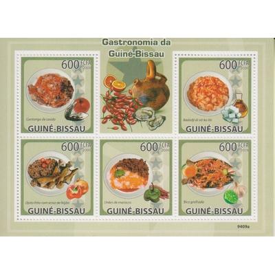Guinée Bissau - Gastronomie - Feuillet neuf ** de 2009