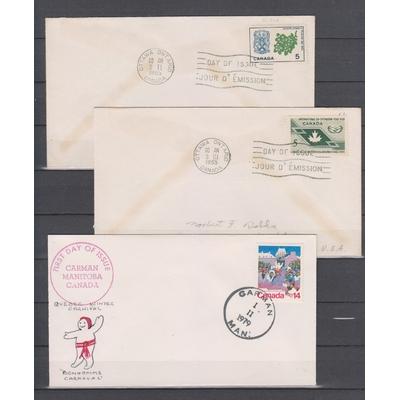 Canada - Lot de 9 enveloppes 1er-jour (3 photos)