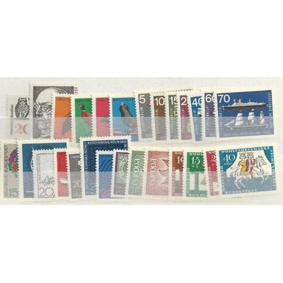 Allemagne - Année complète 1965 neuve ** - Cote €8.50