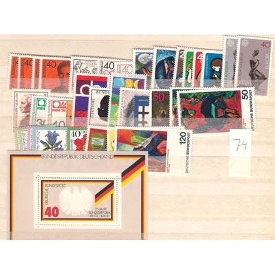 Allemagne - Année complète 1974 neuve ** - Cote €46.30