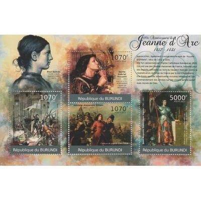 Burundi - Tableaux sur Jeanne d'Arc - Feuillet neuf ** de 2012