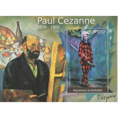 Burundi - Paul Cezanne - Feuillet neuf ** de 2012